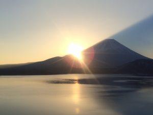富士山朝日